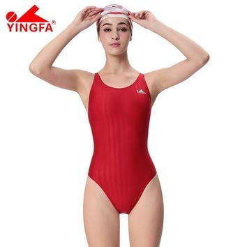 Yingfa professional swimsuit girl's training arena  swimwear chlorine resistant one piece bathing suit competition