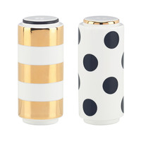 kate spade new york Fairmount Park Dot and Stripe Salt & Pepper Shakers | Dillards