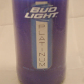 Bud Light Platinum Beer Bottle 100% Soy Candle - Beer Scented