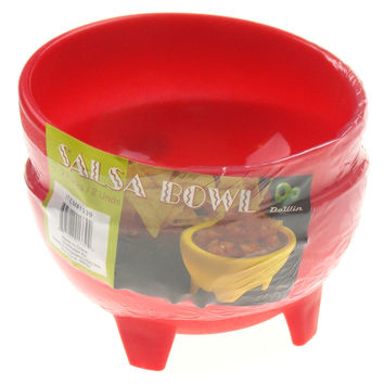Red Mexican Salsa Bowls Set 6 Chips Guacamole Serving Dish Salceros Molcajete
