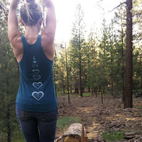 open hearted racerback yoga tank size XS-XL