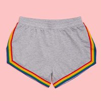 rainbow gym shorts