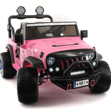 Explorer 12V Kids Ride-On Car Truck with R/C Parental Remote | Pink