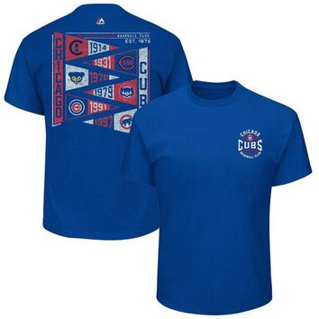 Youth Chicago Cubs Majestic Wave the Pennant T-Shirt - Royal
