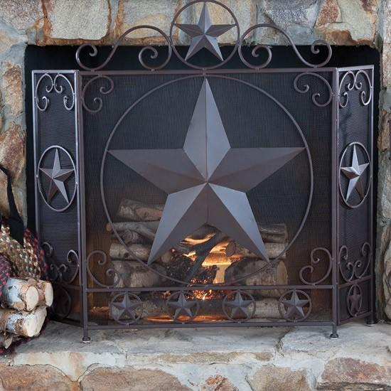 Western Star Fireplace Screen From Rod 39 S Western Palace Home
