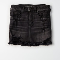 AE Denim X Mini Skirt, Always Black