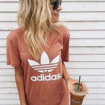adidas Originals Pink Trefoil Boyfriend T-Shirt - (8 color)