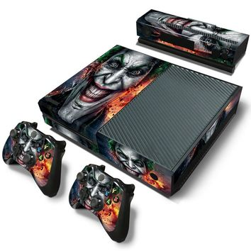 Joker Style For Microsoft XBOX One Console Vinyl Sticker Decal + 2 Controller Skins sticker for xboxone console