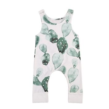 Cute Infant Baby Girl Boy Cactus Romper Jumpsuit Outfit Playsuit Clothing Toddler Boys Girls Print Rompers Casual
