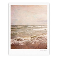 "Iris Lehnhardt ""Romantic Sea"" Beach Brown Fine Art Gallery Print"