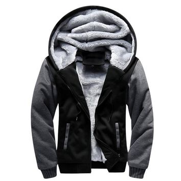 USA SIZE Men Winter Blank Pattern European Fashion Bomber Men Vintage Thick Fleece Jacket Men Winter Jackets Coat