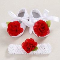 Newborn Booties christening shoes for baby girl;infant rhinestones first walker baby shoes ballerina