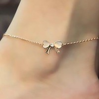 Bow Tie Anklet With Rhinestone from Bblythe