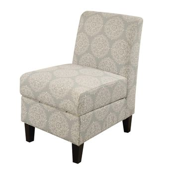 ACME Ollano II Accent Chair with Storage in Hexagon Pattern