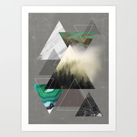 Triangles Symphony Art Print by Cafelab