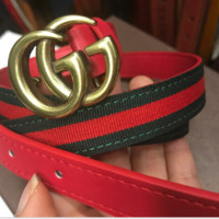 Gucci woman fashion red  and black belt for girls