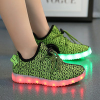 Led luminous Shoes For Boys girls Fashion Light Up Casual kids 7 Colors Outdoor new simulation sole Glowing children sneaker