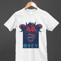 Satan Obey - Obama Poster Parody Shirt for men and women