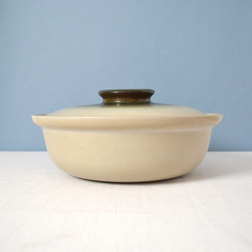 Vintage Large Heath Ceramics Sea and Sand Covered Casserole