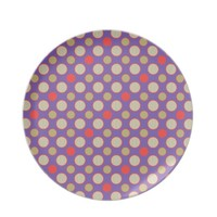 funky time party dots and chevron dinner plates