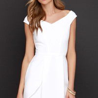Lovely Day Ivory Off-the-Shoulder Dress