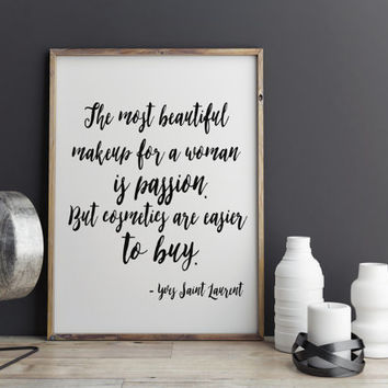 Fashion Art Yves Saint Laurent Quote Wall Decor Typography Print Fashion Illustration Instant download Wall hanging Fashion Poster DIGITAL