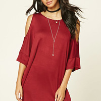 Open-Shoulder Dolman Dress