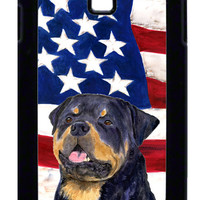 USA American Flag with Rottweiler  Cell Phone Cover GALAXY S4