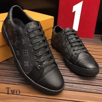 Gotopfashion LV Louis Vuitton Popular Man Women Fashion Print Sport Casual Low Help Board Shoes Couple Shoe I