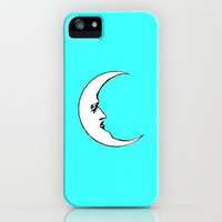 Moon face iPhone Case by JT Digital Art  | Society6