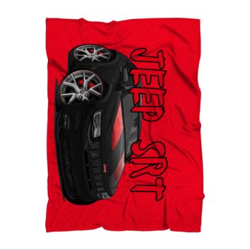Jeep SRT Red Grand Cherokee Premium Sublimation Adult Blanket