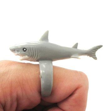 Adorable Shark Figurine Shaped Animal Wrap Ring for Kids | US Size 4 to size 6