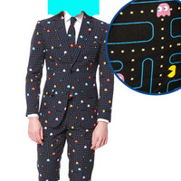The Pac-Man Waka Waka Print Dress Suit