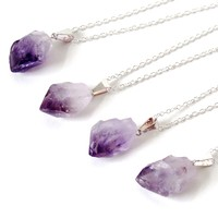 Amethyst Point Necklaces by Kloica Accessories