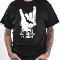 Sign Of The Horns T-Shirt - Metal T-Shirts