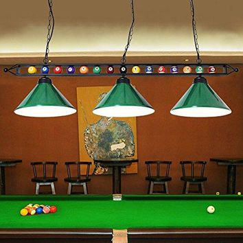 Chende 59'' Hanging Pool Table Light Suitable for 7' or 8' Tables (Green)