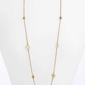 Women's MARC BY MARC JACOBS 'Classic Marc' Long Necklace - Cream/ Gold