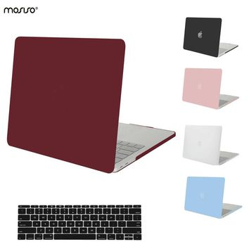 MOSISO for Macbook Pro 15 Touch Bar Crystal Matte Hard Cover Case for Mac book Pro 13 Touch Bar Laptop Shell Cove+Keyboard Cover