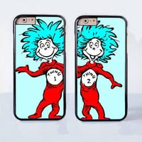 Thing 1 and Thing 2 Couple Case for Apple iPhone 6 Plus 4 4s 5 5s 5c 6