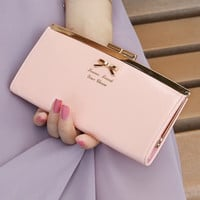Ladies Girls Purse Bowknot Handbag Clutch Bag Coin Card Phone Holders Wallet Short Case