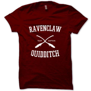 HARRY POTTER Shirt Ravenclaw Quidditch T-Shirt Black White Gray Maroon Unisex T-Shirt Tee S,M,L,XL #1