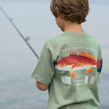Youth Outfitter Collection Redfish Tee by Southern Marsh