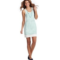 Striped Cutout Strap Tank Dress