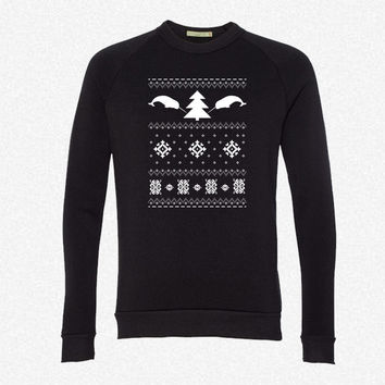 Narwhal Christmas Sweater fleece crewneck sweatshirt