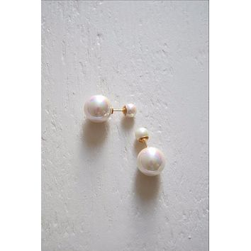 Opal Double Pearl Earrings