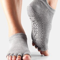Women's ToeSox Low Rise Half-Toe Gripper Socks,