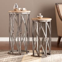 Upton Home Merton Two-Piece Accent Table Set | Overstock.com Shopping - The Best Deals on Coffee, Sofa & End Tables