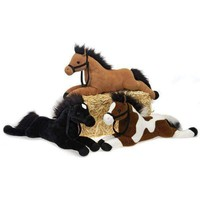 "21"""" 3 Assorted Color Plush Laydown Horses Case Pack 18"