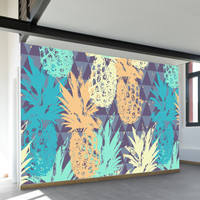 Pineapple on Triangle Wall Mural