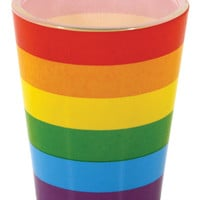 Rainbow Wrapped Shot Glass